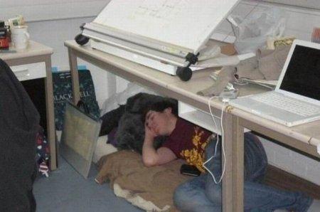 А как спишь на работу или на учебе ты?