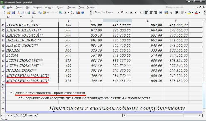 """Сигареты """"Мирский Замок"""" сняли с производства"""