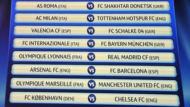 UEFA Champions League - 1/8 финала !