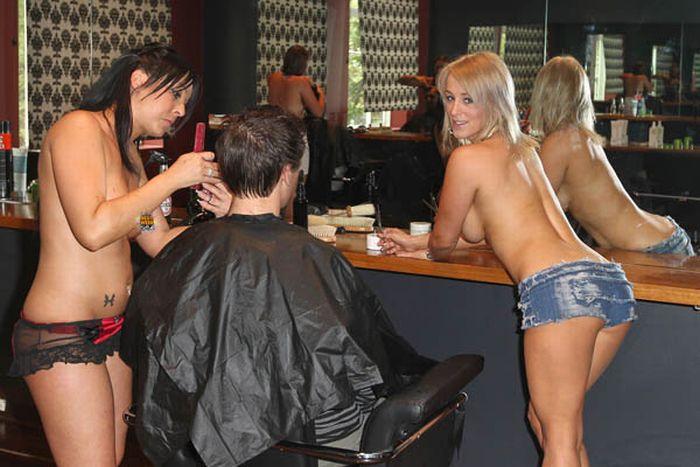секс фото в парикмахерской