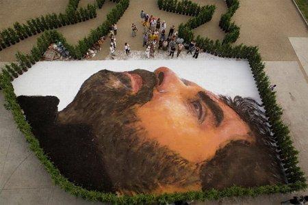 Самый гигантский портрет на улице