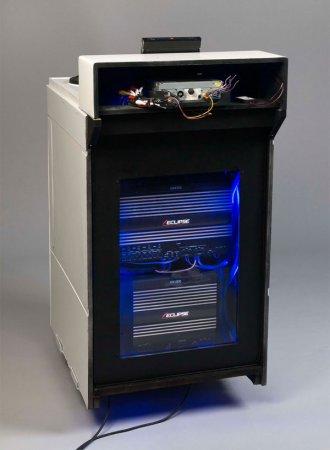 Сross-culture - акустическая система из старой кухонной плиты