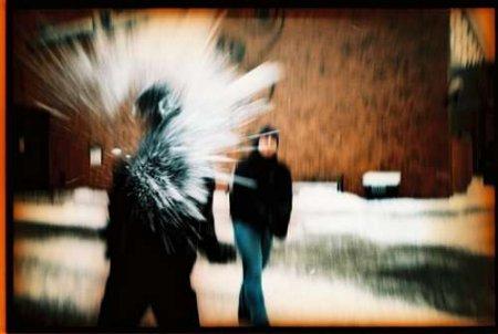 Снег - это больно!
