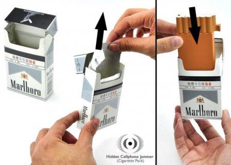 Пачка сигарет со встроенной глушилкой