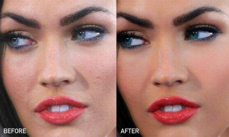 Меган Фокс в жизни и после Фотошопа