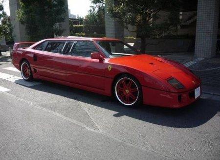 Лимузин из Ferrari F40 в Японии