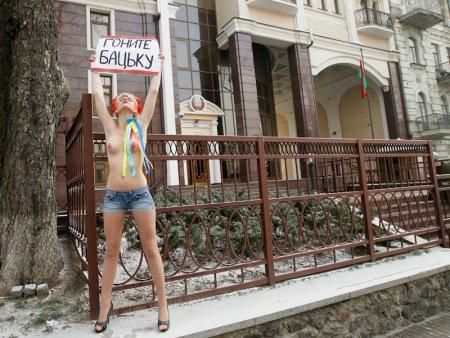 Свеженький белорусский моно-митинг от FEMEN