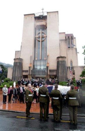 Похороны солдата из Новой Зеландии