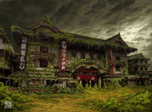Постапокалиптический вид города Токио в исполнении tokyogenso