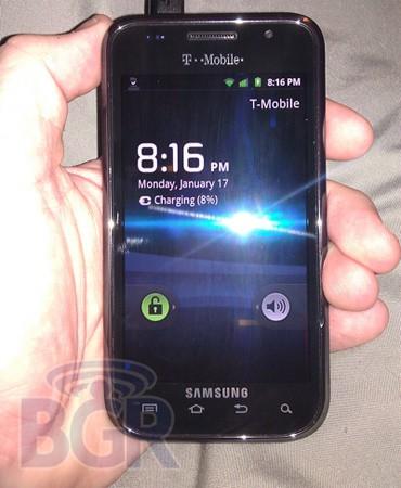Android смартфон Samsung Vibrant 4G с поддержкой HSPA+ выйдет в феврале