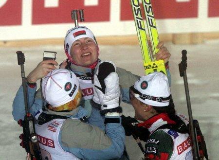 Белорусские биатлонистки заняли третье место в эстафете