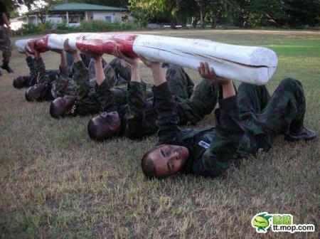 Тренировки тайской полиции