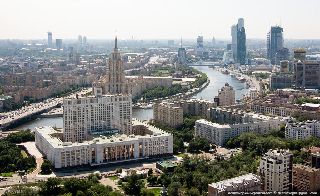 москва вид сверху: