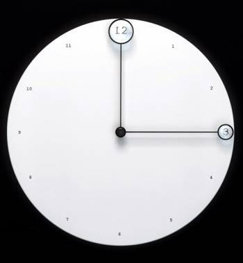 Настенные часы с необычным циферблатом
