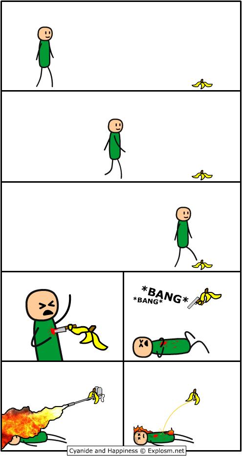Страшный банан-убийца!