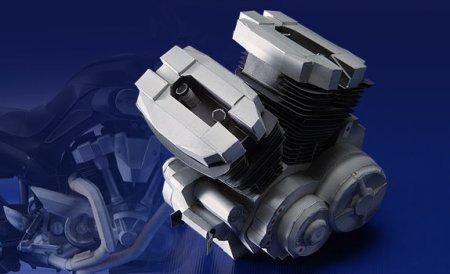 Модели мотоциклов Yamaha из бумаги