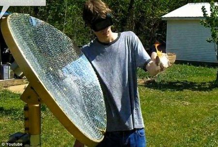 Подросток собрал из зеркал солнечный «Луч смерти»