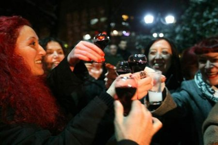 Алкогольный флешмоб в Турции