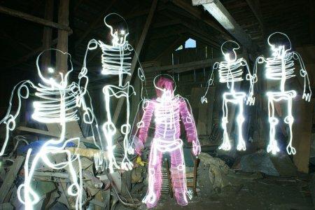 Световые скелеты Janne Parviainen