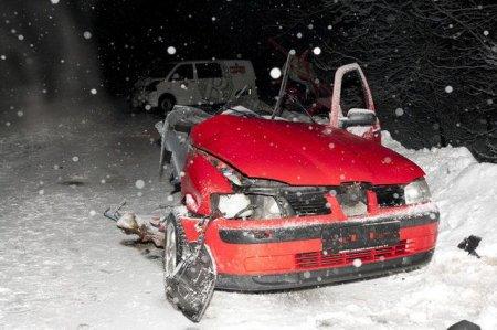 Разорвало машину на куски