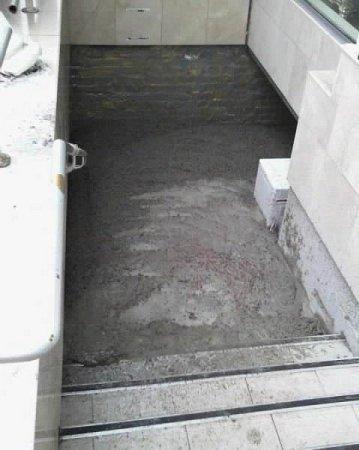Залили ночной клуб цементом