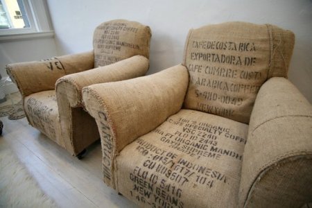 Vintage Coffee Bean Bag Chairs