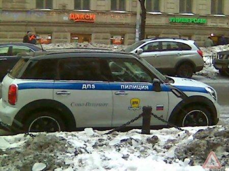 """В Петербурге оштрафовали """"пилицейского"""" за неправильную парковку"""