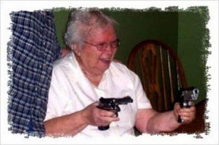 Моя бабулька тебе башку прострелит!
