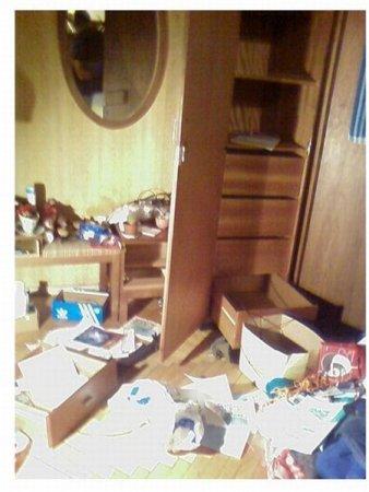 Квартира после обыска
