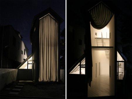 Жизнь за «занавесом». Узкий минималистский дом O House в Киото