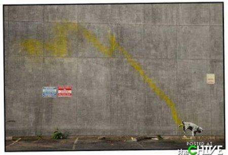 Новые работы Banksy в штатах