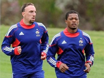 Эвра и Рибери вызваны в сборную Франции