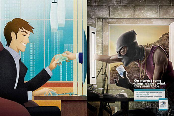 Порно реклама на мониторе