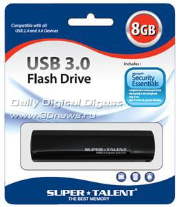 Новинка среди флешек с USB 3.0 от Super Talent