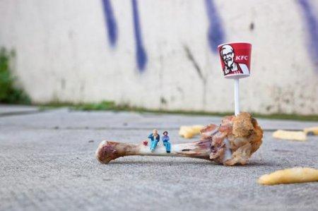 Миниатюрное уличное искусство