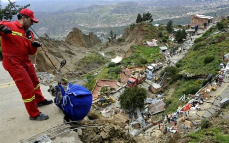 Оползень в Боливии