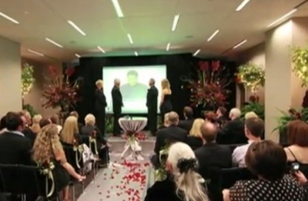Американская пара поженилась по Skype