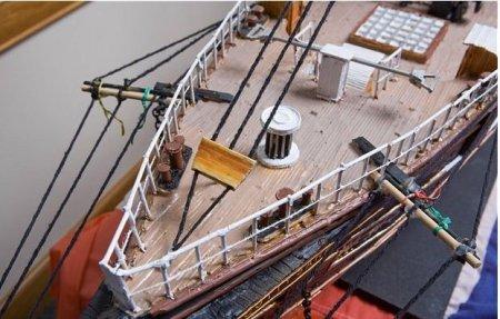 Огромный корабль из зубочисток