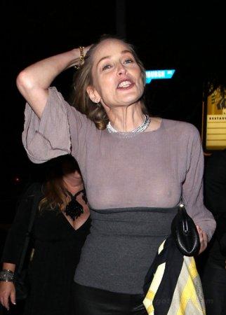 Шэрон Стоун встретила 53-летие с голой грудью