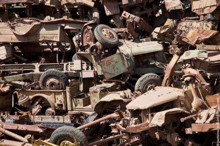 Танковое кладбище в Эфиопии