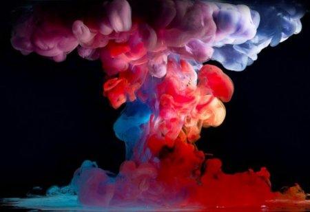 Вода и краски (10 фото)