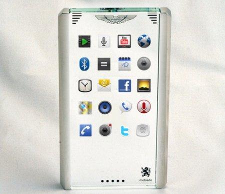 Mobiado и Aston Martin показали концепт прозрачного телефона