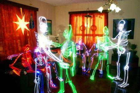 Галерея световых скелетов (13 фото)