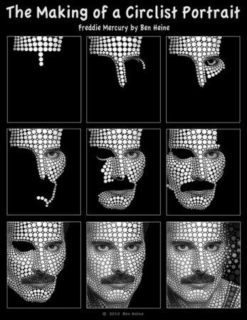 Портреты селебрити в кружочек