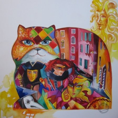 Разноцветные коты (автор Оксана Заика)
