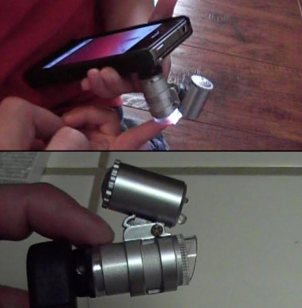 Микроскоп с 60-кратным увеличением для iPhone 4