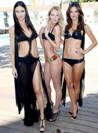 Adriana Lima, Allesandra Ambrosia, and candice Swanepoel