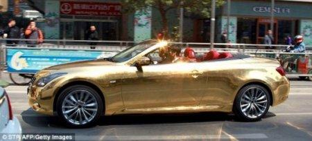 Машина из чистого золота конфискована полицией