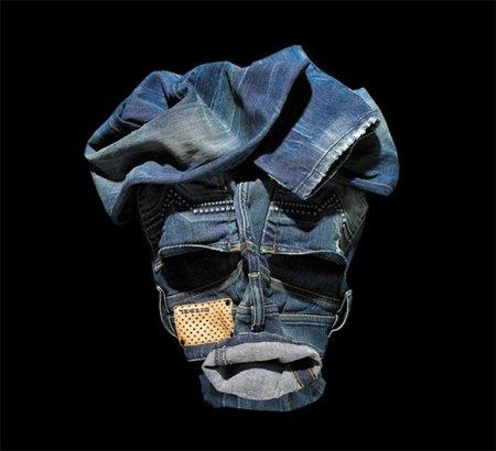 Лица, сложенные из одежды