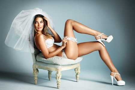 Lily Aldridge в рекламе белья для невест Victoria's Secret + видео